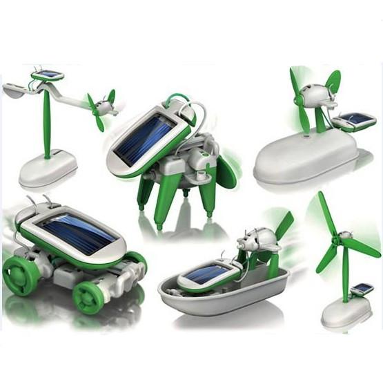 solar robot kit - 6 in 1