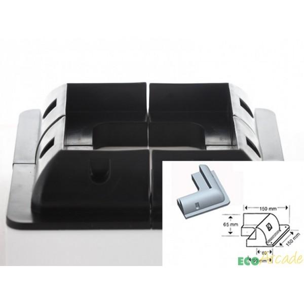 Solar panel adhesive corner glue mounts