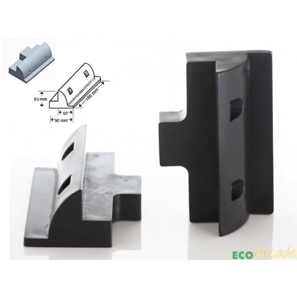 Solar panel adhesive short side mount