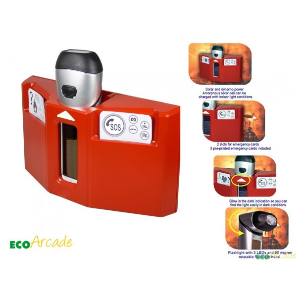 Husky Emergency station Cold solar and Wind up emergency torch