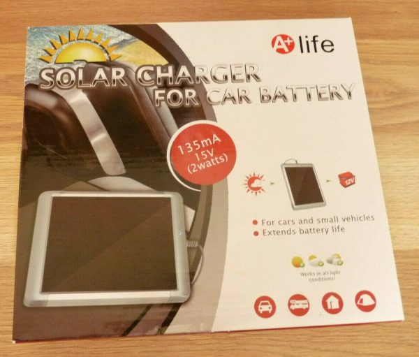 2w A+ Life solar battery maintainer