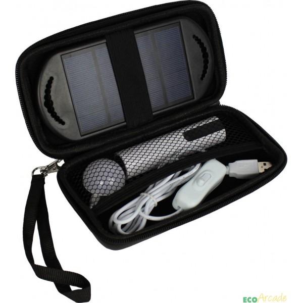 Portable emergency Anaconda solar lighting system