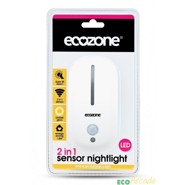 Ecozone 2 in 1 nightlight with PIR and dawn to dusk sensor