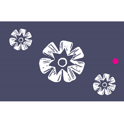 Woodblock flowers recycled wrapping paper