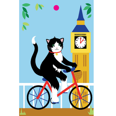 London cats recycled wrapping paper