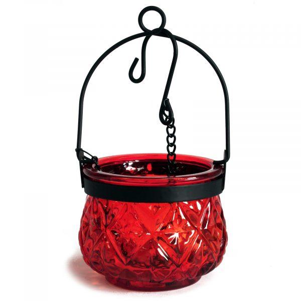 Moroccan glass lanterns red