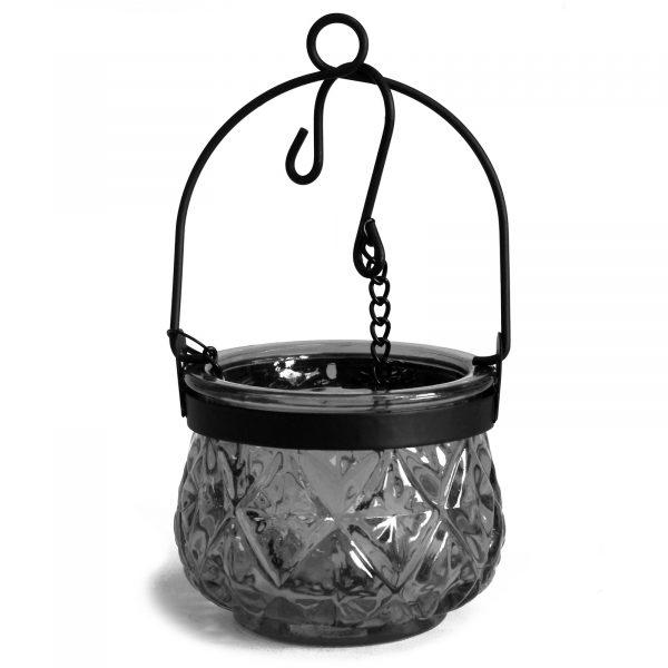 Moroccan glass lanterns grey