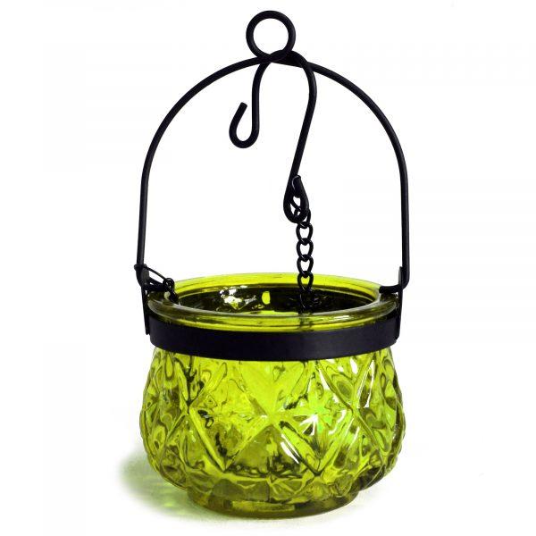 Moroccan glass lanterns moss