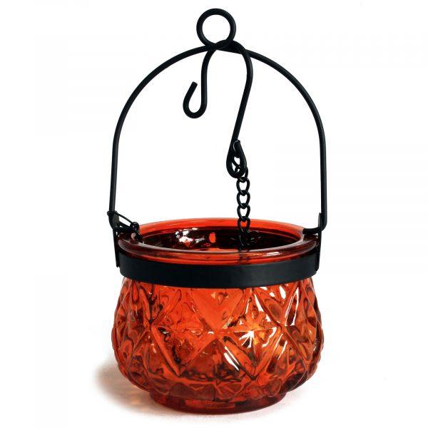 Moroccan glass lanterns amber
