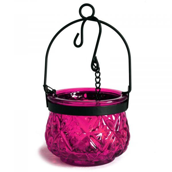 Moroccan glass lanterns violet