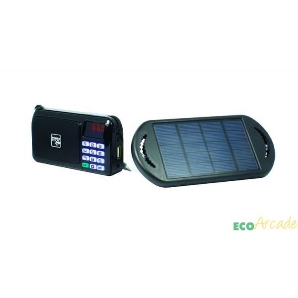 POWERplus® Crow FM radio, MP3 player with solar panel