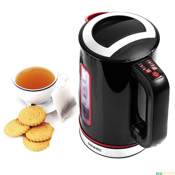 Duronic EK30 cordless eco kettle with variable temperature and double wall