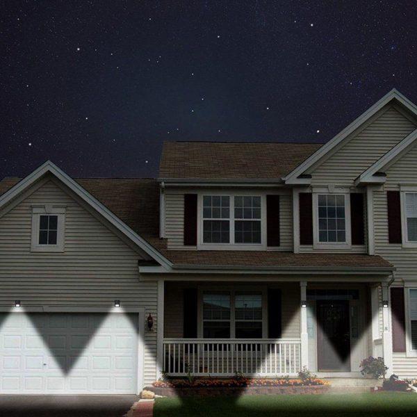 LED wall light solar powered with PIR detector and night sensor