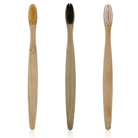 Bamboo bristle toothrush 3 pcs gift set various colours