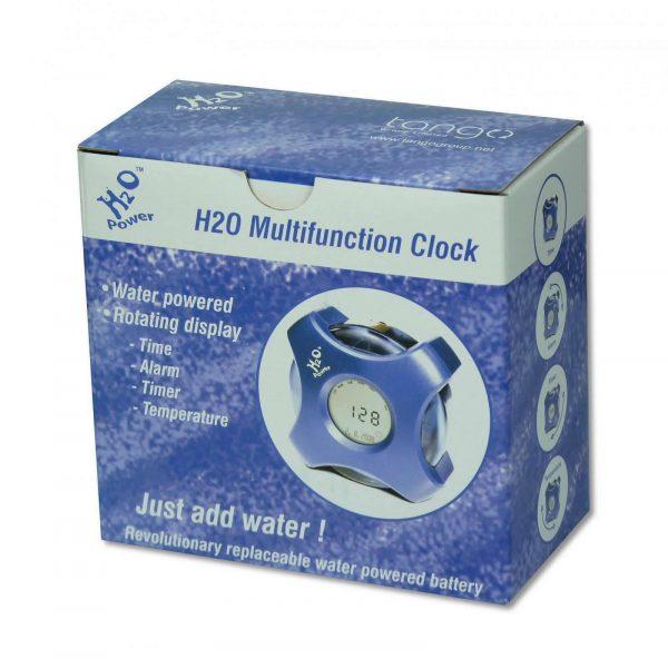 H2O water powered clock box