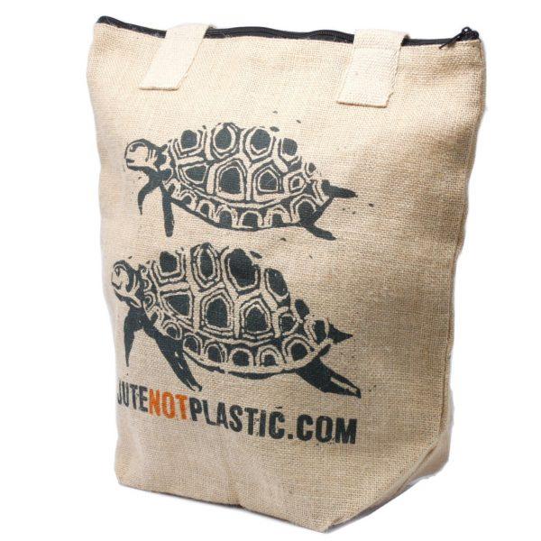 Jute two turles eco shopping bag