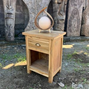 Classic recycled wood bedside table